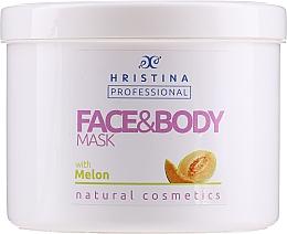 "Духи, Парфюмерия, косметика Маска для лица и тела ""Дыня"" - Hristina Professional Melon Face & Body Mask"