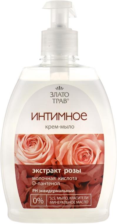 """Крем-мыло для интимной гигиены """"Роза"""" - Velta Cosmetic Злато трав"""