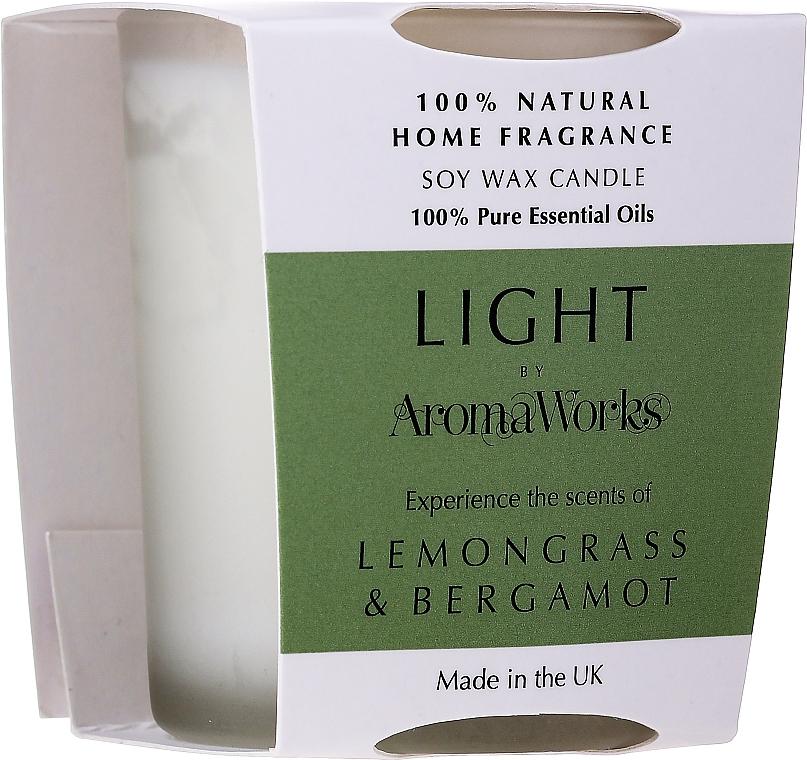 """Ароматическая свеча """"Лемонграсс и бергамот"""" - AromaWorks Light Range Lemongrass & Bergamot Candle"""