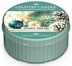 Духи, Парфюмерия, косметика Чайная свеча - Country Candle Tinsel Thyme Daylight
