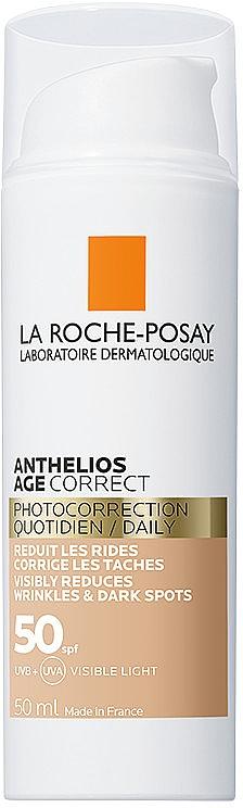 Антивозрастное солнцезащитное средство с тонирующим эффектом для лица против морщин и пигментации, SPF50 - La Roche-Posay Anthelios Age Correct SPF50 Tinted