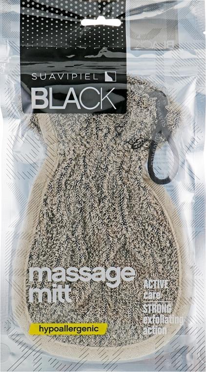 Перчатка-мочалка - Suavipiel Black Massage Mitt