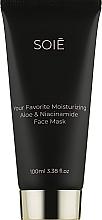 Духи, Парфюмерия, косметика Восстанавливающая маска для глубокого увлажнения с Алоэ и Ниацинамидом - Soie Your Favorite Moisturizing Aloe & Niacinamide Face Mask