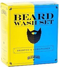 Духи, Парфюмерия, косметика Набор - Golden Beards Beard Wash Set (shm/100ml + cond/100ml)