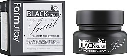 Духи, Парфюмерия, косметика Крем для глаз с муцином черной улитки - FarmStay All-In-One Black Snail Eye Cream