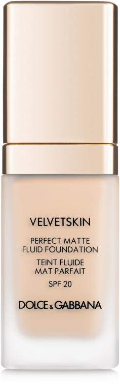 Тональный крем - Dolce&Gabbana Velvetskin Perfect Matte Fluid Foundation SPF20