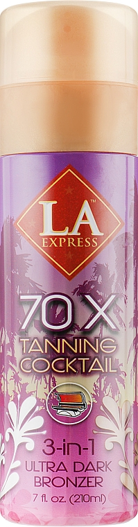 Средство для автозагара с формулой 3-в-1 загар + уход - La Express 70X Tanning Coctail