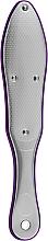 Духи, Парфюмерия, косметика Лазерная терка для ног двухсторонняя FL-05, металлическая полностью с прорезиненными вставками, фиолетовая - Beauty LUXURY