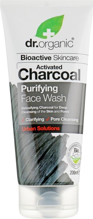Гель очищающий для лица с активированным углем - Dr. Organic Activated Charcoal Face Wash