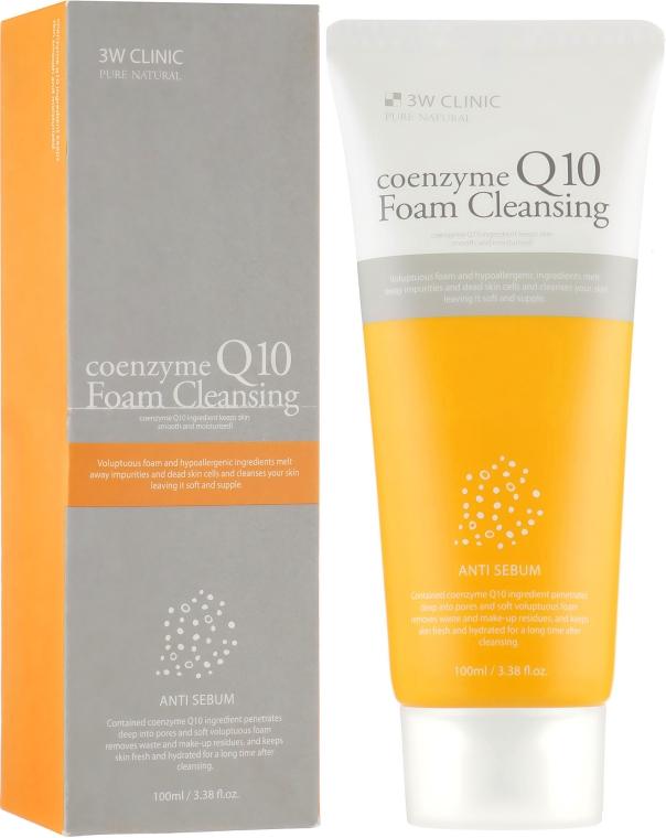 Омолаживающая пенка с коэнзимом - 3w Clinic Coenzyme Q10 Foam Cleansing