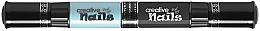 Духи, Парфюмерия, косметика Лак-карандаш для ногтей детский на водной основе, черный + голубой - Creative Nails