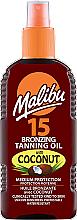 Духи, Парфюмерия, косметика Масло для тела с эффектом бронзового загара - Malibu Bronzing Tanning Oil With Coconut SPF 15