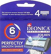 Духи, Парфюмерия, косметика Сменные кассеты для бритья, 6 лезвий, 4 шт. - Deonica For Men