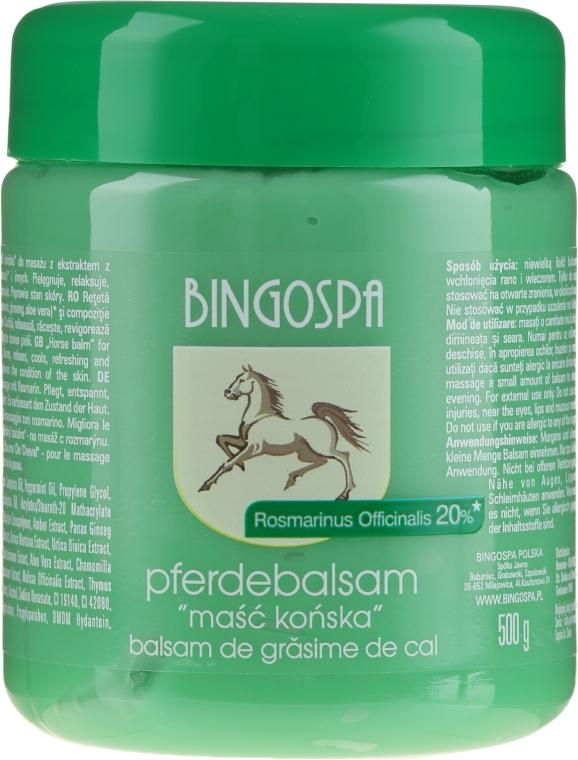 Конская мазь с экстрактом розмарина - BingoSpa Ointment Horse With Rosemary