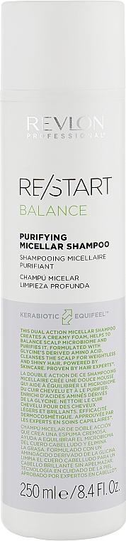 Шампунь для глубокого очищения - Revlon Professional Restart Balance Purifying Micellar Shampoo
