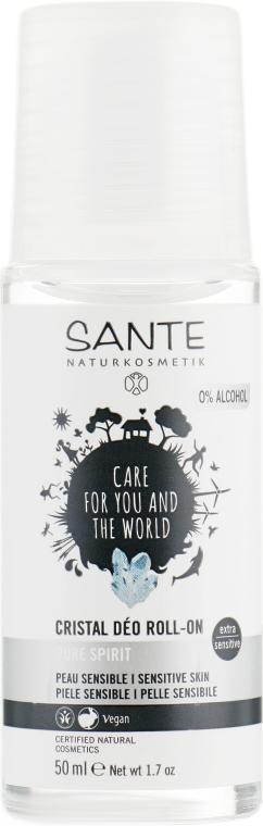 Дезодорант роликовий для надчутливої шкіри, неароматизований - Sante Body Care Crystal Deo Roll-On — фото N1