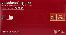 Духи, Парфюмерия, косметика Перчатки латексные, нестерильные, неприпудренные, размер XL - Mercator Medical Amblance High Risk