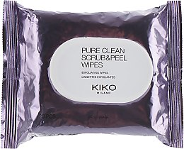 Духи, Парфюмерия, косметика Влажные салфетки для лица с отшелушивающим и освежающим действием - Kiko Pure Clean Scrub & Peel Wipes