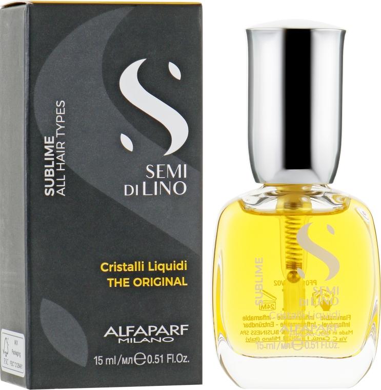 Жидкие кристаллы для волос - Alfaparf Semi di Lino Sublime Cristalli Liquidi
