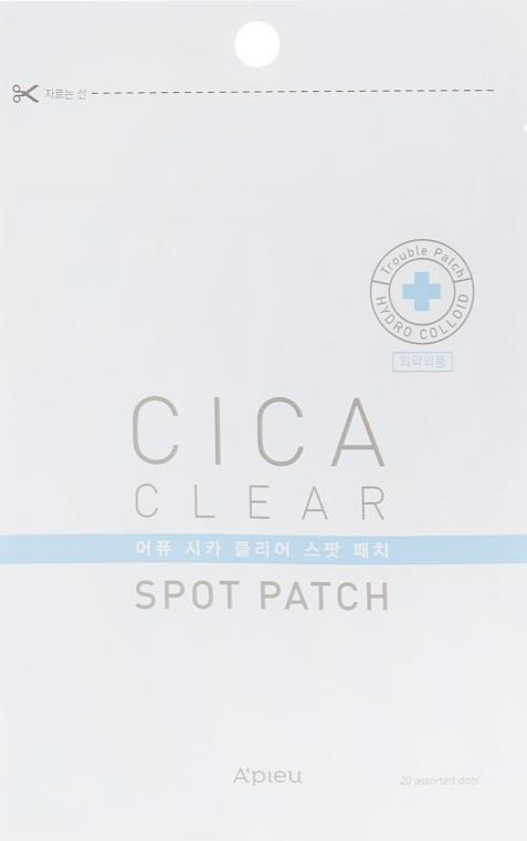 Гидроколлоидные пластыри лица - A'pieu Cica Clear Spot Patch