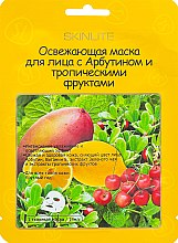 Духи, Парфюмерия, косметика Освежающая маска для лица с Арбутином и тропическими фруктами - Skinlite Illuminating Arbutin Mask