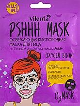 Духи, Парфюмерия, косметика Освежающая кислородная маска для лица со сладкой мятой и комплексом Acid+ - Vilenta Pshhh Mask