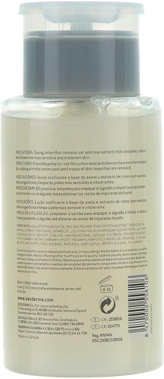 Тонік для чутливої шкіри - SesDerma Laboratories Hidraderm Oatmeal & Rose Water — фото N2