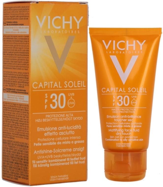 Солнцезащитная матирующая эмульсия - Vichy Capital Soleil SPF 30 Emulsion Mattifying Face Fluid Dry Touch