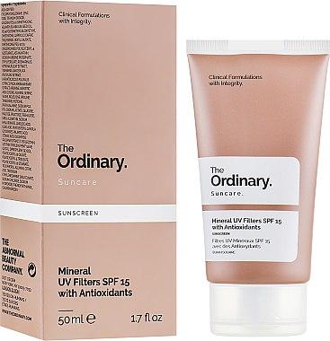 Солнцезащитный крем с минеральными фильтрами - The Ordinary Suncare Mineral UV Filters SPF15 Antioxidants