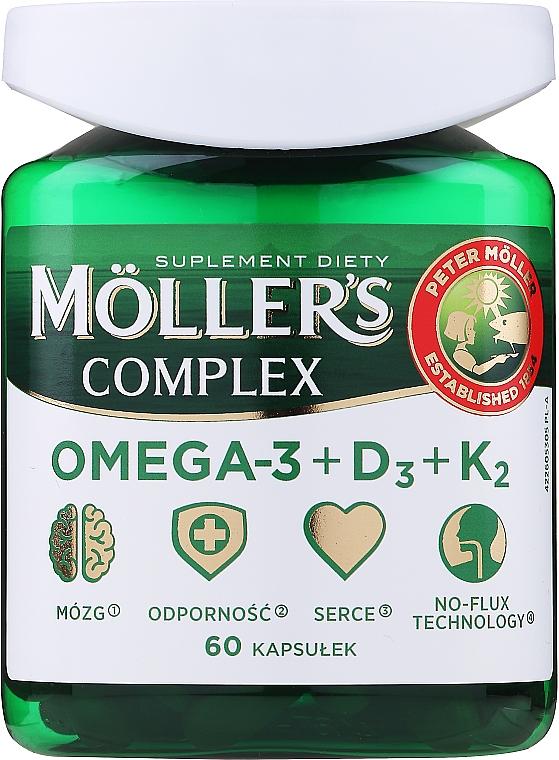 """Пищевая добавка """"Complex Omega-3 + D3 + K2"""" - Mollers"""