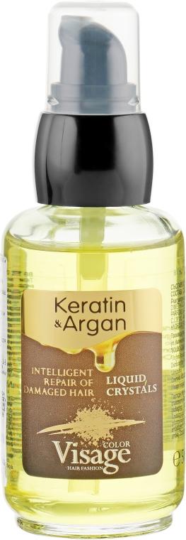 Жидкие кристаллы для волос с кератином и аргановым маслом - Visage Keratin & Argan Liquid Crystals