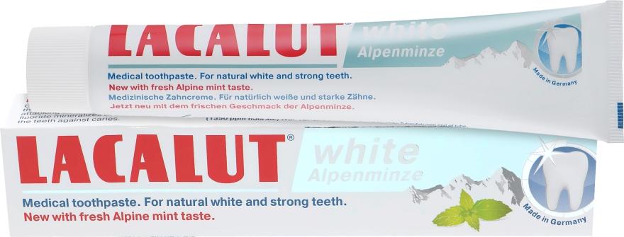 """Зубная паста """"Вайт альпийская мята"""" - Lacalut White Alpenminze Toothpaste"""