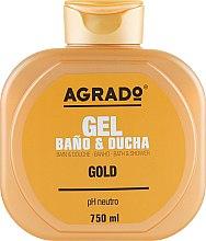 "Духи, Парфюмерия, косметика Гель для душа ""Gold"" - Agrado Gold Bath and Shower Gel"