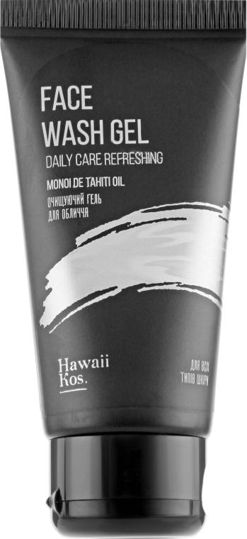 Очищающий гель для лица - Hawaii Kos Face Wash Gel Daily Care Refreshing Monoi de Tahiti Oil
