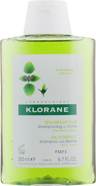 Шампунь c крапивой для жирных волос - Klorane Seboregulating Treatment Shampoo with Nettle Extract