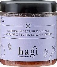 Духи, Парфюмерия, косметика Натуральный скраб с маслом сливы и жожоба - Hagi Scrub