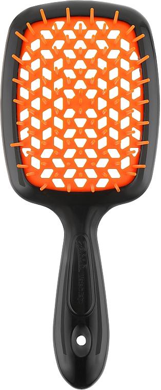 Расческа для волос, черный с оранжевым - Janeke Superbrush