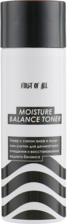 Тонер с соком алоэ и муцином улитки - First of All Moisture Balance Toner