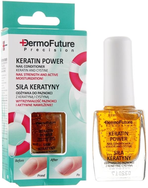 "Покрытие для ногтей ""Сила кератина"" - Dermo Future Keratin Power Nail Conditioner Keratin&Cystine"