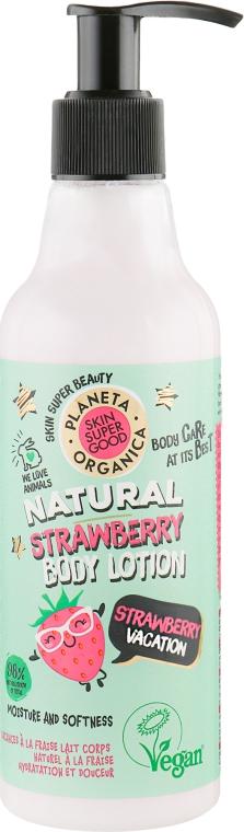 """Клубничный лосьон для тела """"Клубничный отпуск"""" - Planeta Organica Strawberry Body Lotion"""