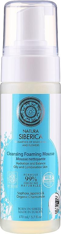 """Пенящийся мусс для умывания """"Увлажнение и баланс"""" - Natura Siberica"""