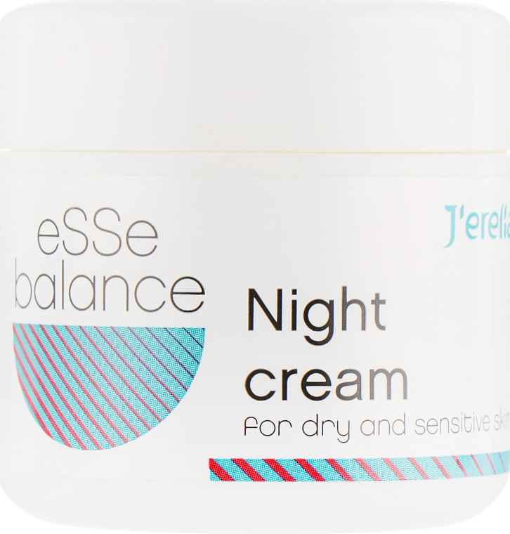 Ночной крем для сухой и чувствительной кожи - J'erelia Esse Balance