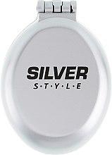 Духи, Парфюмерия, косметика Расческа складная с зеркалом, РМ-2063, серая - Silver Style
