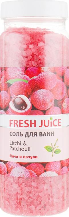 Соль для ванны - Fresh Juice Litchi & Patchouli