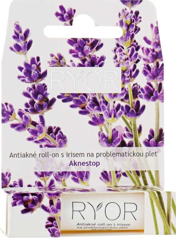 Антиакне ролик с ирисом для проблемной кожи - Ryor Aknestop Roll-On With Iris