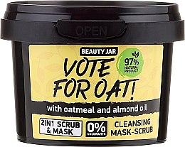 "Духи, Парфюмерия, косметика Очистительная маска-скраб для лица ""Vote For Oatn"" - Beauty Jar Cleansing Mask-Scrub"