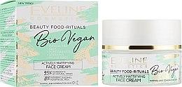 Духи, Парфюмерия, косметика Матирующий крем для лица - Eveline Cosmetics Natural Beauty Foods Bio Vegan