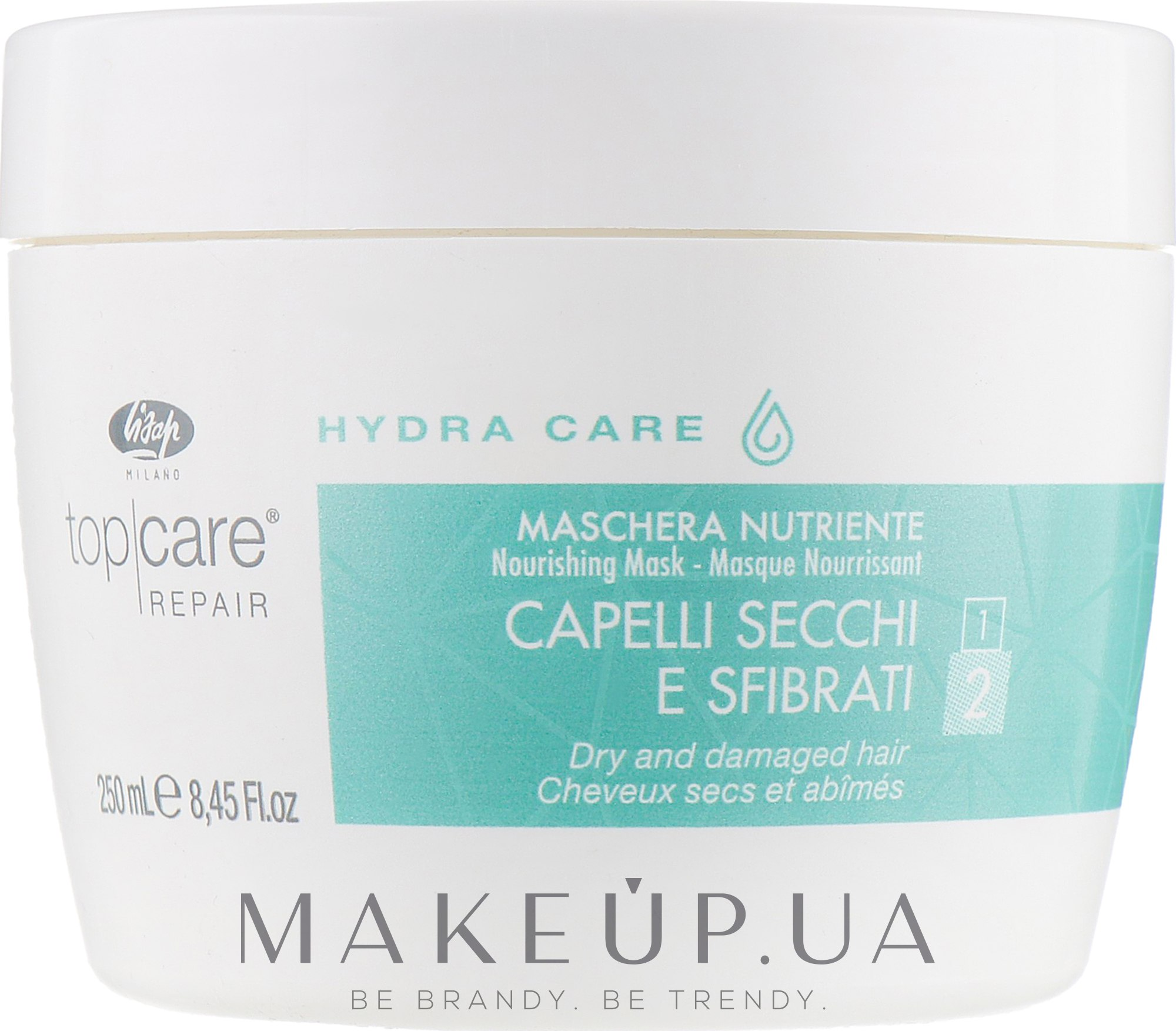 Интенсивная питающая маска - Lisap Top Care Repair Hydra Care Nourishing Mask — фото 250ml
