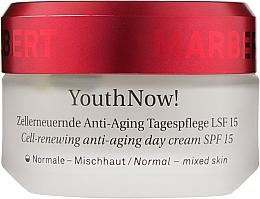 Парфумерія, косметика Омолоджувальний денний крем - Marbert YouthNow! Cell-Renewing Anti-Aging Day Care SPF 15