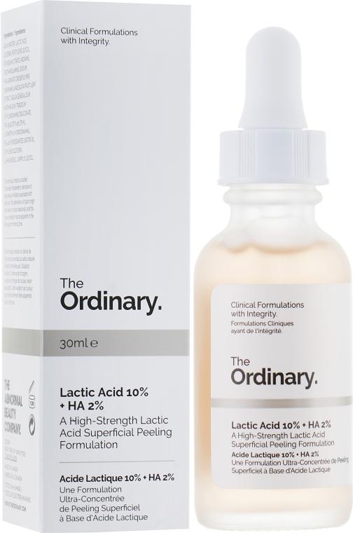 Пилинг с молочной кислотой - The Ordinary Lactic Acid 10% + HA 2%
